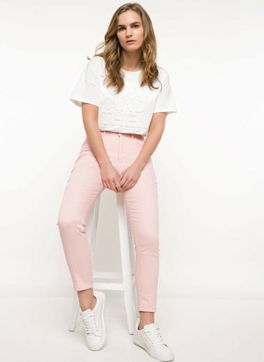 DeFacto Anna Yüksek Bel Süper Skinny  Pantolon Pembe